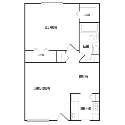 Floor plans napoleon square apartments for 720 sq ft apartment floor plan